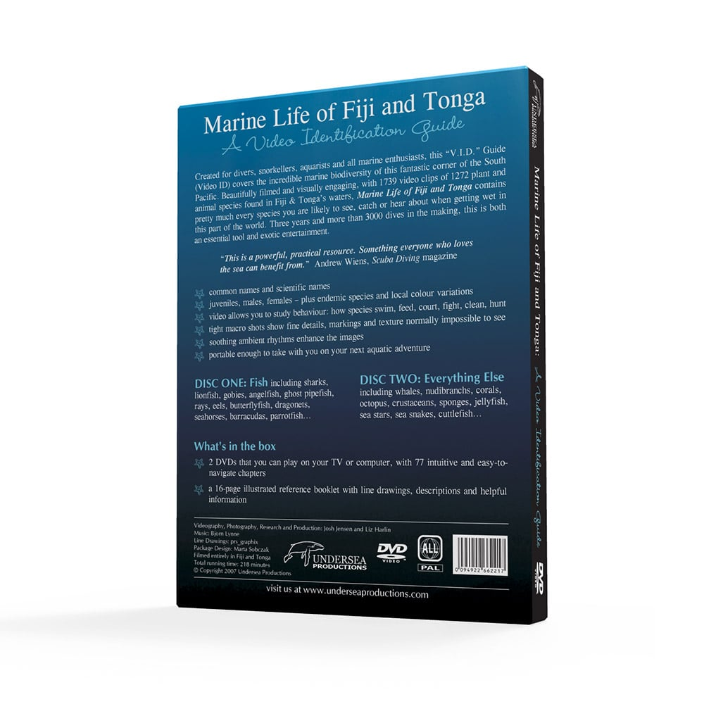 Marine Life Of Fiji & Tonga: A Video Identification Guide. A Reef Species Field Guide For Divers, Snorkellers, Aquarists And All Underwater Enthusiasts.