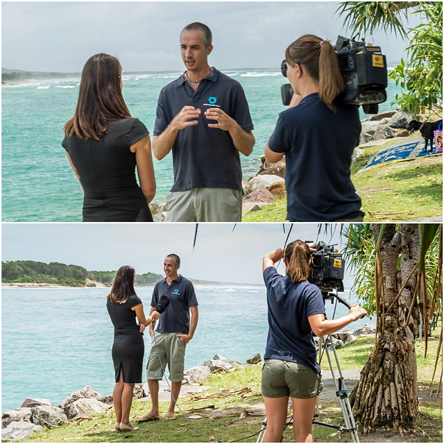 Josh Jensen interviewed by WIN New about the Noosa Underwater Biodiversity Assessment