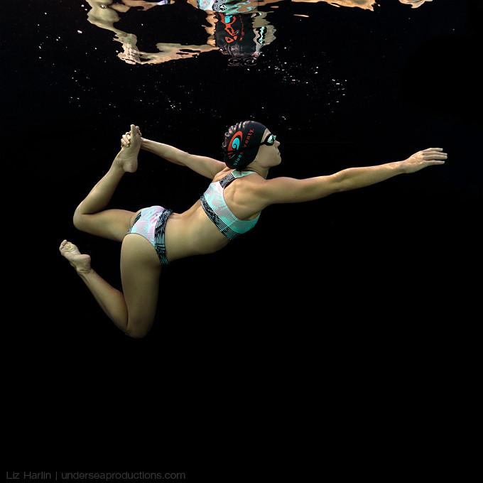 Underwater Portrait Of Noosa Triathlete