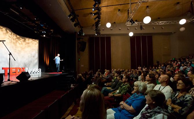Josh Jensen public speaking at TEDx Noosa