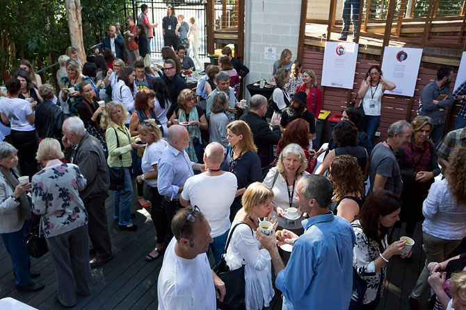 TED events are carefully designed to encourage audience and speakers to mix, mingle and share ideas