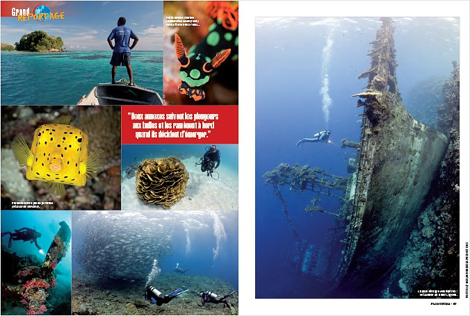 Underwater stock photography for scuba diving magazines