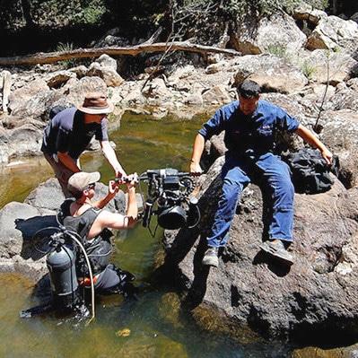 Underwater Cameraman With 4K Camera, Queensland, Australia