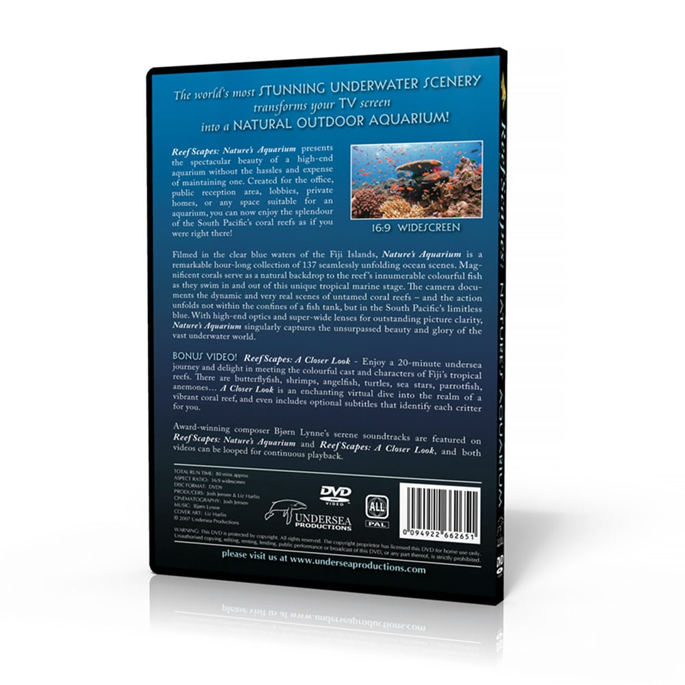Reefscapes: Nature's Aquarium (DVD back cover)