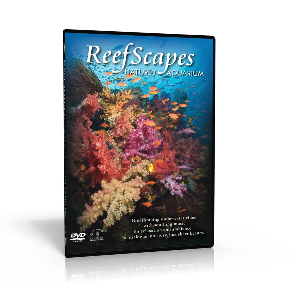 Reefscapes Nature's Aquarium DVD. From the clear blue waters of the Fiji Islands, Reefscapes brings you a beautiful hour-long collection of seamlessly unfolding ocean scenes.